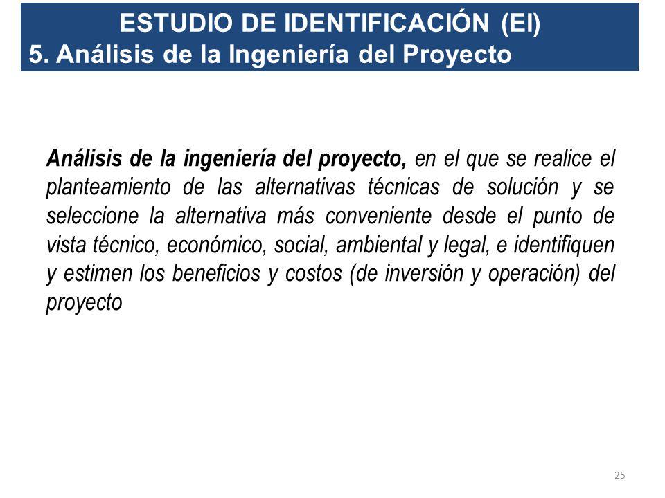 ESTUDIO DE IDENTIFICACIÓN (EI) 4. Situación sin proyecto Consiste en establecer lo que pasaría en el caso de no ejecutar el proyecto, considerando la