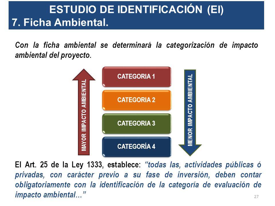 ESTUDIO DE IDENTIFICACIÓN (EI) 6. Especificaciones Técnicas, Administrativas y Operacionales del Proyecto (proyectos menores) ¿Qué son las especificac