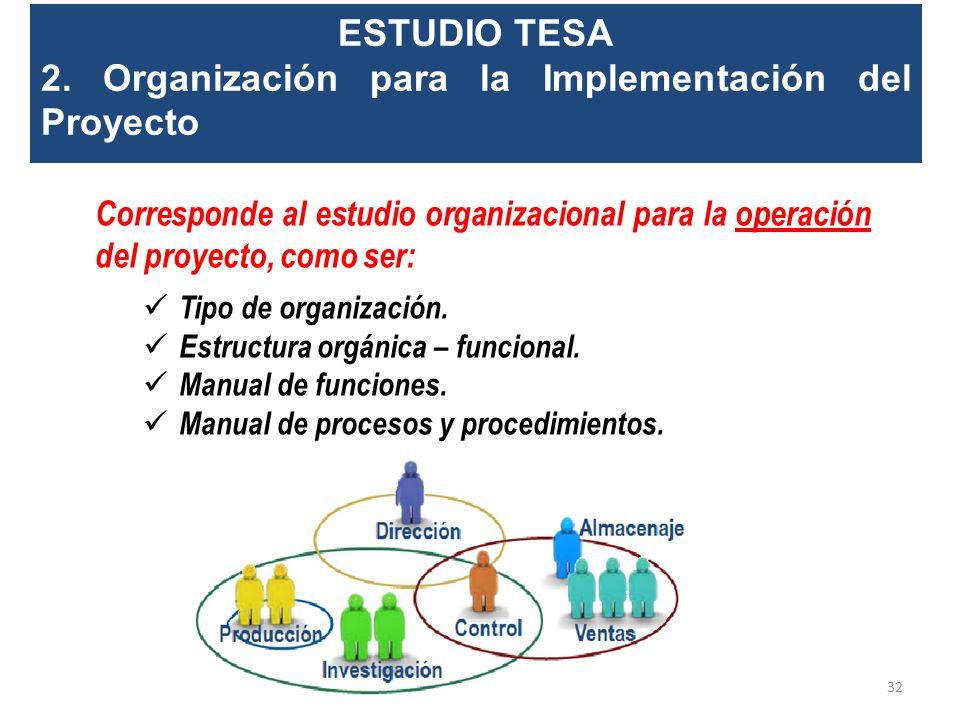 ESTUDIO TESA 1. Análisis Técnico de la Ingeniería del Proyecto. Incluirá: Estudio detallado de la alternativa seleccionada (Ingeniería Básica y Diseño