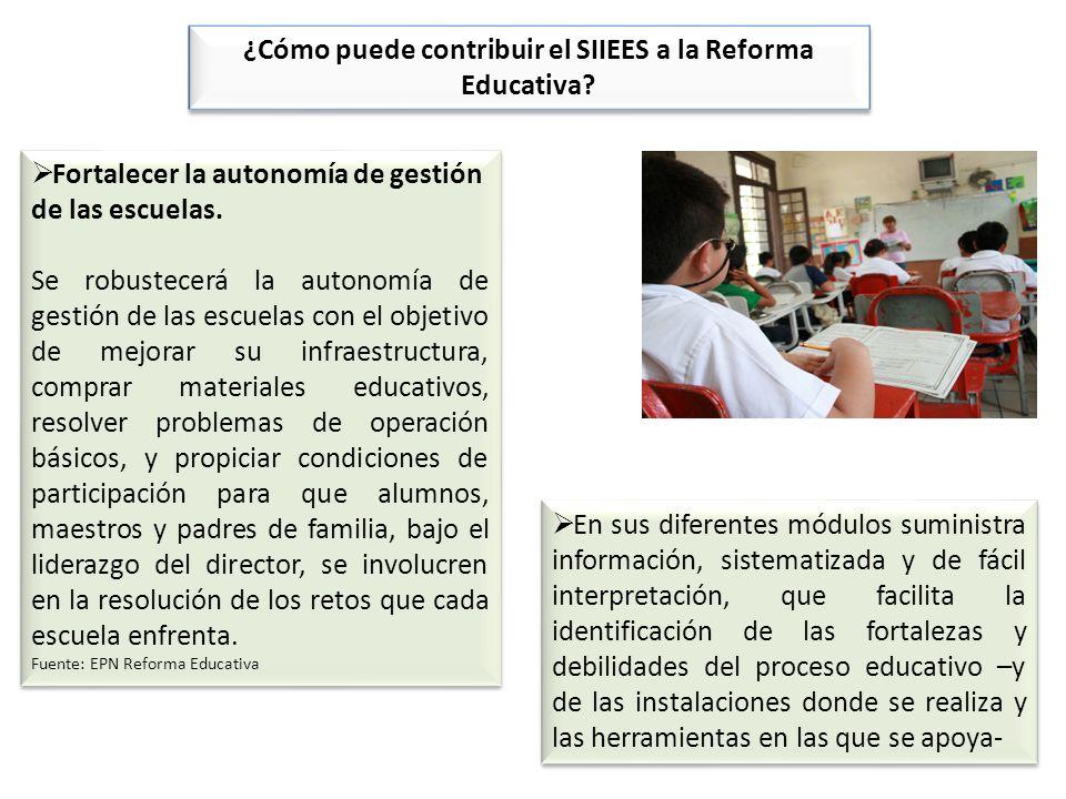 Fortalecer la autonomía de gestión de las escuelas. Se robustecerá la autonomía de gestión de las escuelas con el objetivo de mejorar su infraestructu