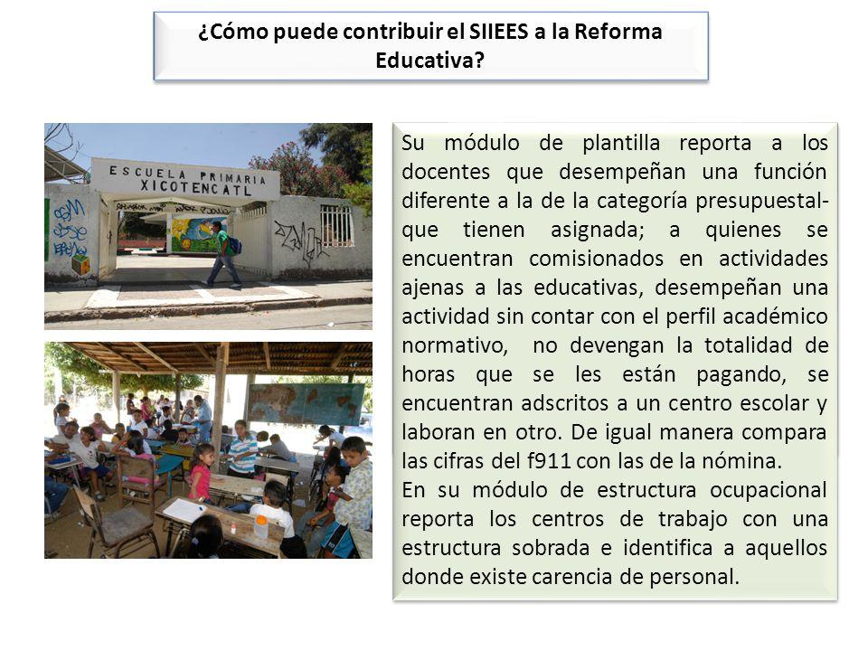 Escuelas. Su módulo de infraestructura facilita la identificación del número de escuelas y del número de edificios –y el estado en que se encuentran-