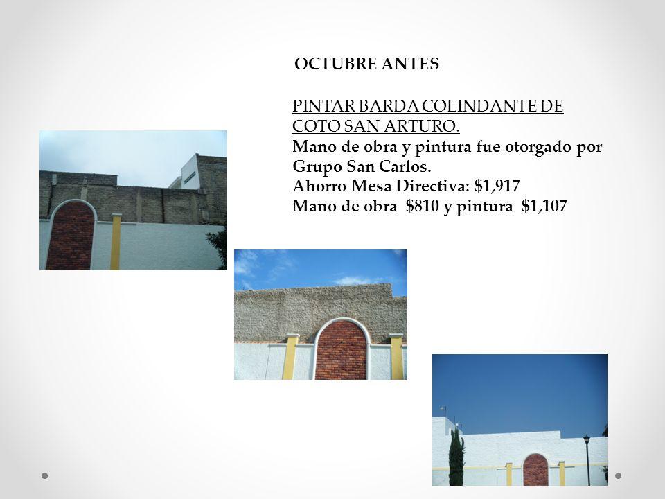 OCTUBRE ANTES PINTAR BARDA COLINDANTE DE COTO SAN ARTURO.