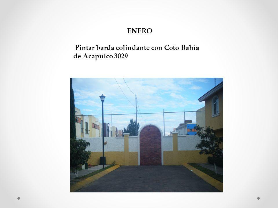 ENERO Pintar barda colindante con Coto Bahía de Acapulco 3029