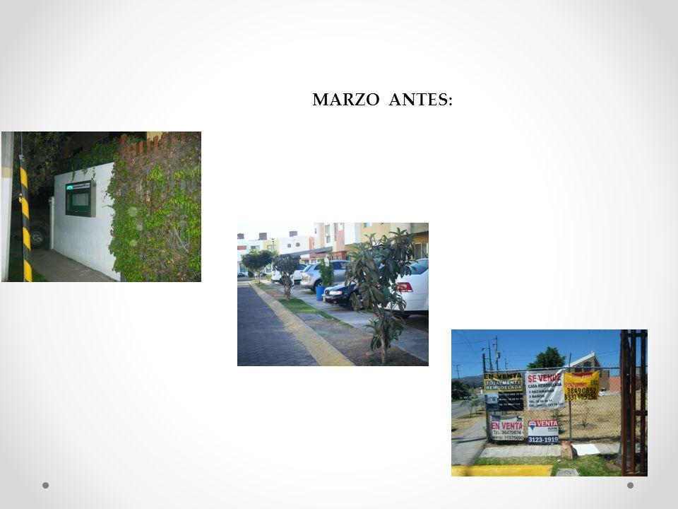 MARZO ANTES: