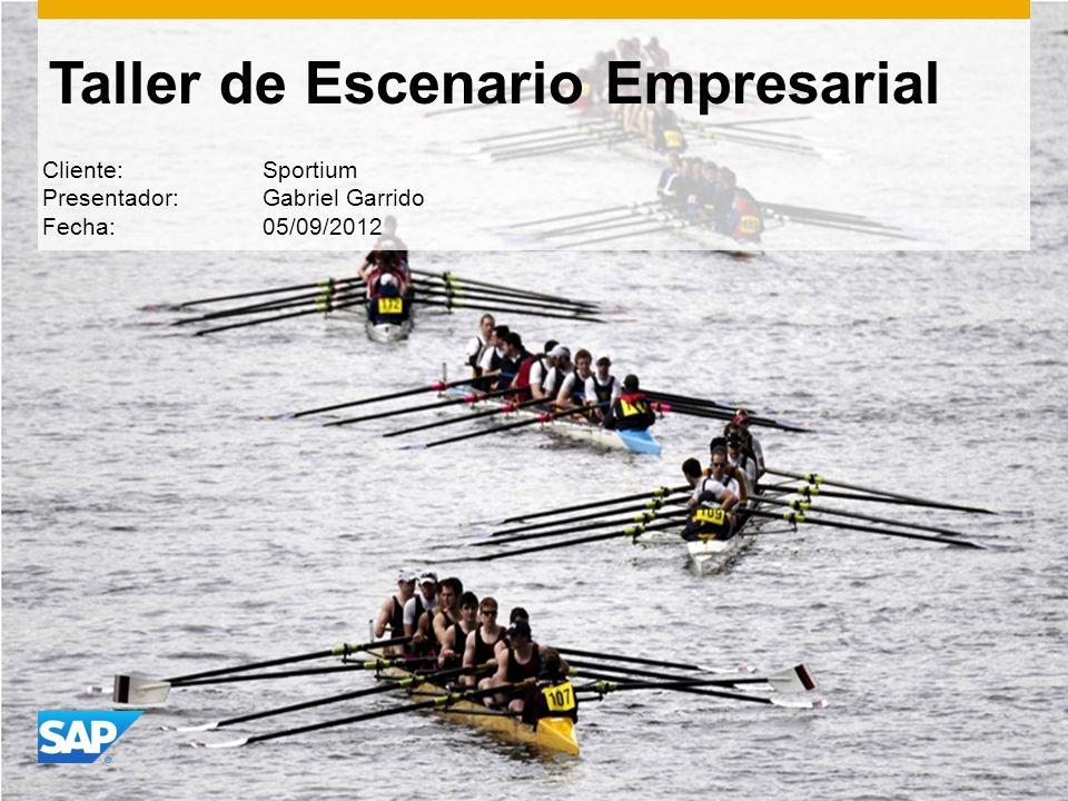 Taller de Escenario Empresarial Cliente: Sportium Presentador: Gabriel Garrido Fecha: 05/09/2012