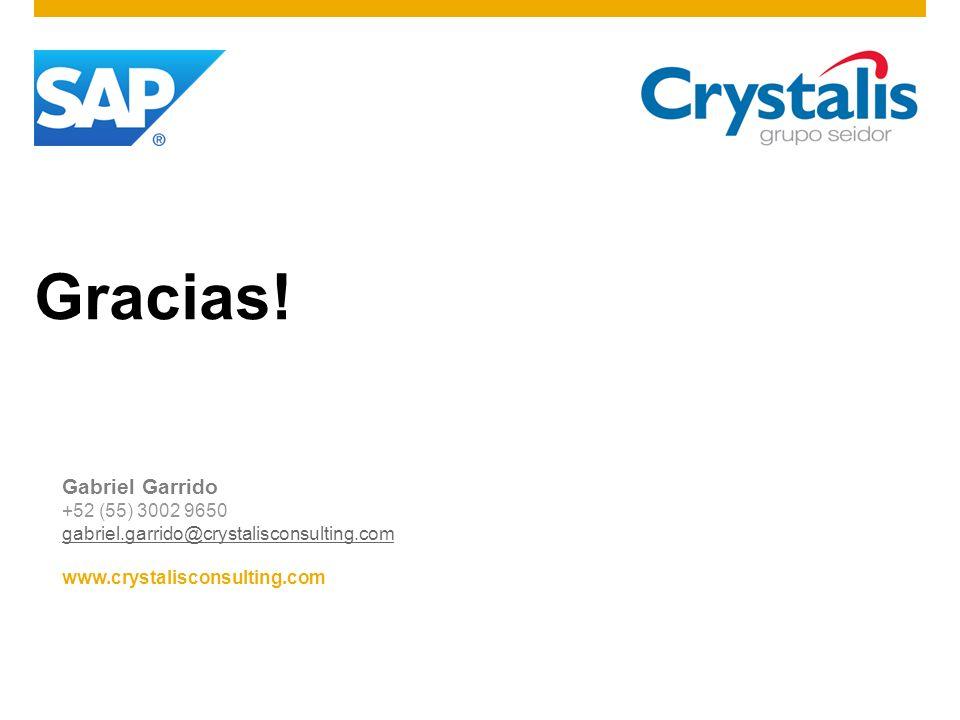 Gracias! Gabriel Garrido +52 (55) 3002 9650 gabriel.garrido@crystalisconsulting.com www.crystalisconsulting.com