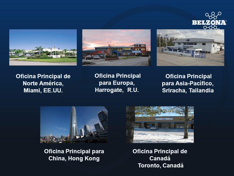 Oficina Principal de Norte América, Miami, EE.UU. Oficina Principal para Asia-Pacífico, Sriracha, Tailandia Oficina Principal de Canadá Toronto, Canad