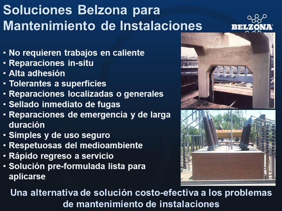 No requieren trabajos en caliente Reparaciones in-situ Alta adhesión Tolerantes a superficies Reparaciones localizadas o generales Sellado inmediato d