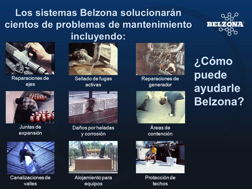 Los sistemas Belzona solucionarán cientos de problemas de mantenimiento incluyendo: ¿Cómo puede ayudarle Belzona? Reparaciones de ejes Daños por helad