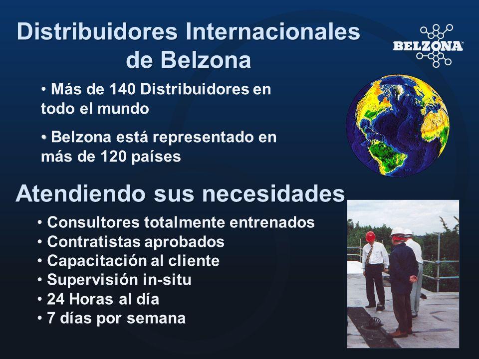 Más de 140 Distribuidores en todo el mundo Belzona está representado en más de 120 países Atendiendo sus necesidades Consultores totalmente entrenados