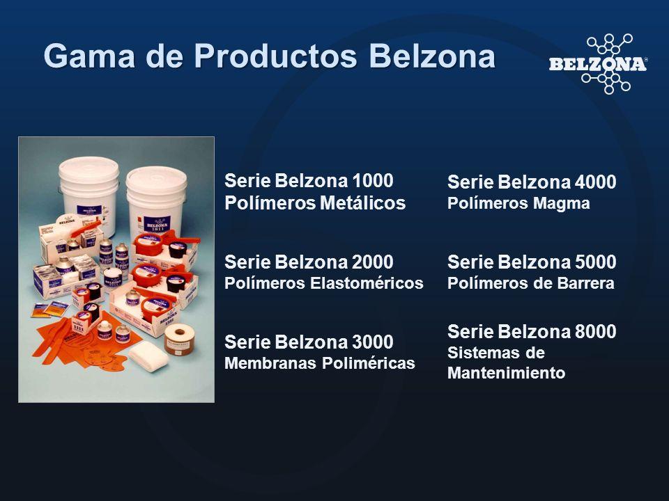 Gama de Productos Belzona Serie Belzona 1000 Polímeros Metálicos Serie Belzona 4000 Polímeros Magma Serie Belzona 2000 Polímeros Elastoméricos Serie B