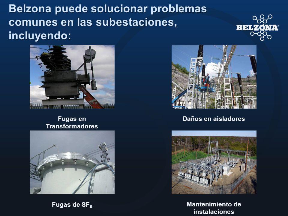 Belzona puede solucionar problemas comunes en las subestaciones, incluyendo: Fugas de SF 6 Fugas en Transformadores Daños en aisladores Mantenimiento