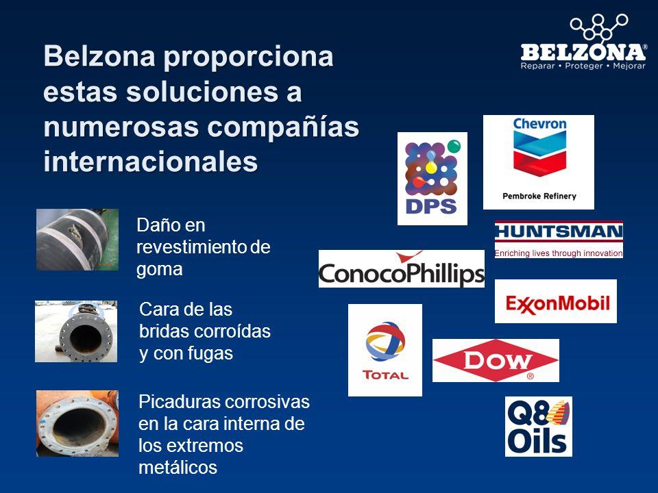 Belzona proporciona estas soluciones a numerosas compañías internacionales Daño en revestimiento de goma Picaduras corrosivas en la cara interna de lo