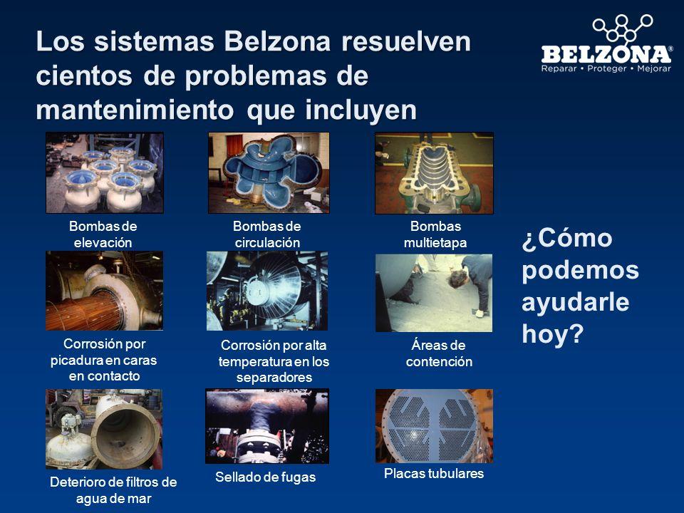 Los sistemas Belzona resuelven cientos de problemas de mantenimiento que incluyen ¿Cómo podemos ayudarle hoy? Áreas de contención Corrosión por picadu