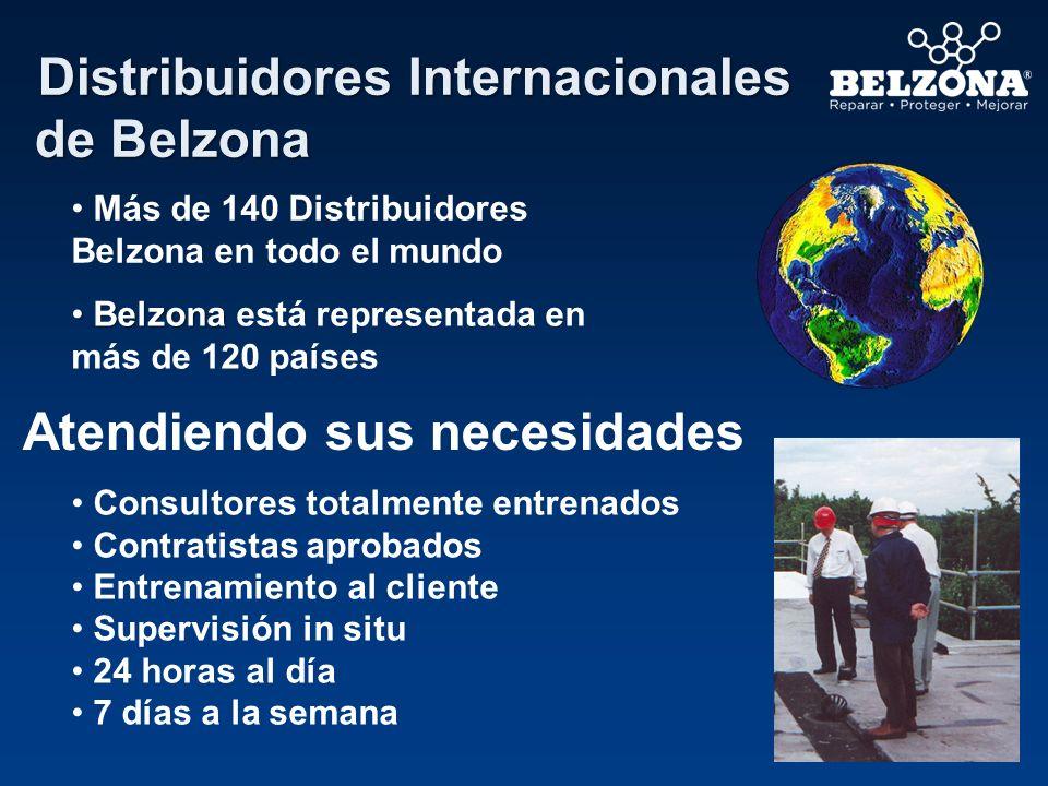 Más de 140 Distribuidores Belzona en todo el mundo Belzona Belzona está representada en más de 120 países Atendiendo sus necesidades Consultores total