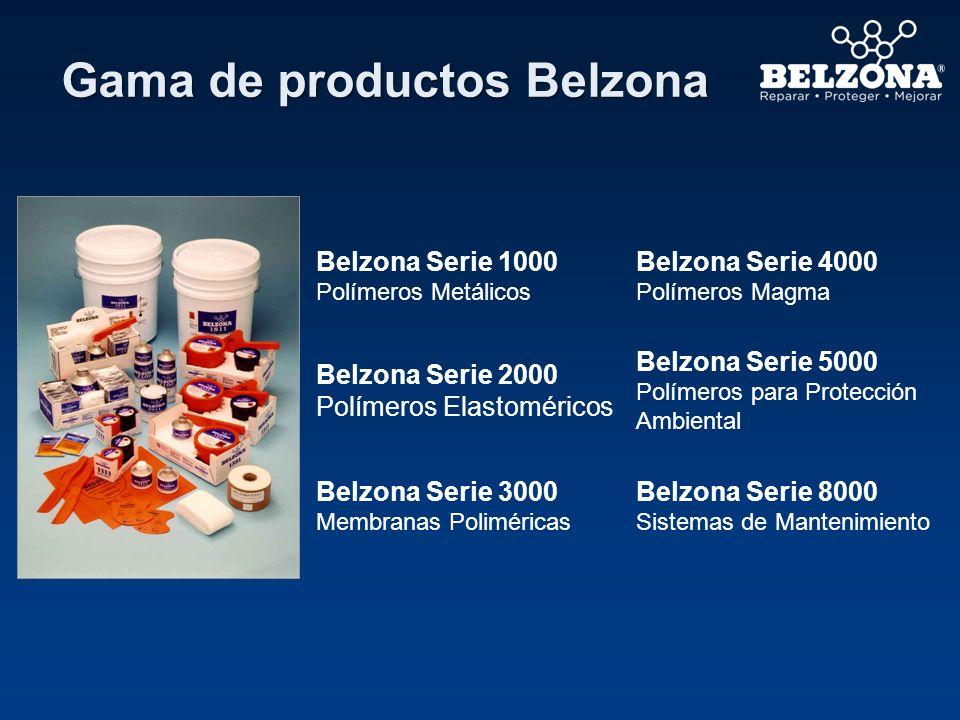 Gama de productos Belzona Belzona Serie 1000 Polímeros Metálicos Belzona Serie 4000 Polímeros Magma Belzona Serie 2000 Polímeros Elastoméricos Belzona