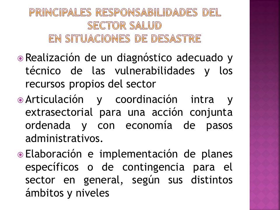 Realización de un diagnóstico adecuado y técnico de las vulnerabilidades y los recursos propios del sector Articulación y coordinación intra y extrase