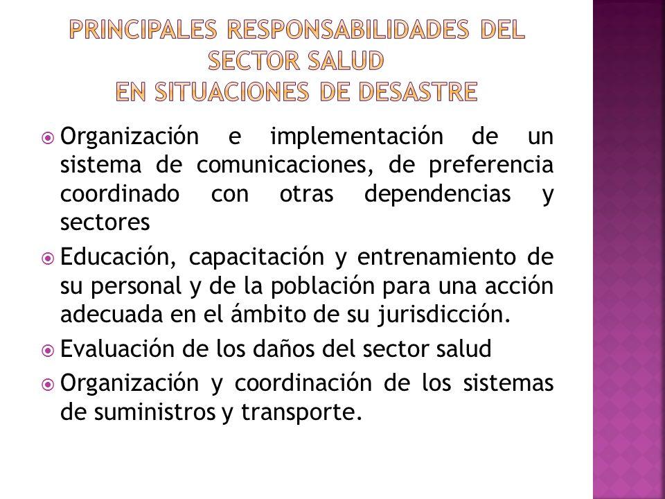 Organización e implementación de un sistema de comunicaciones, de preferencia coordinado con otras dependencias y sectores Educación, capacitación y e