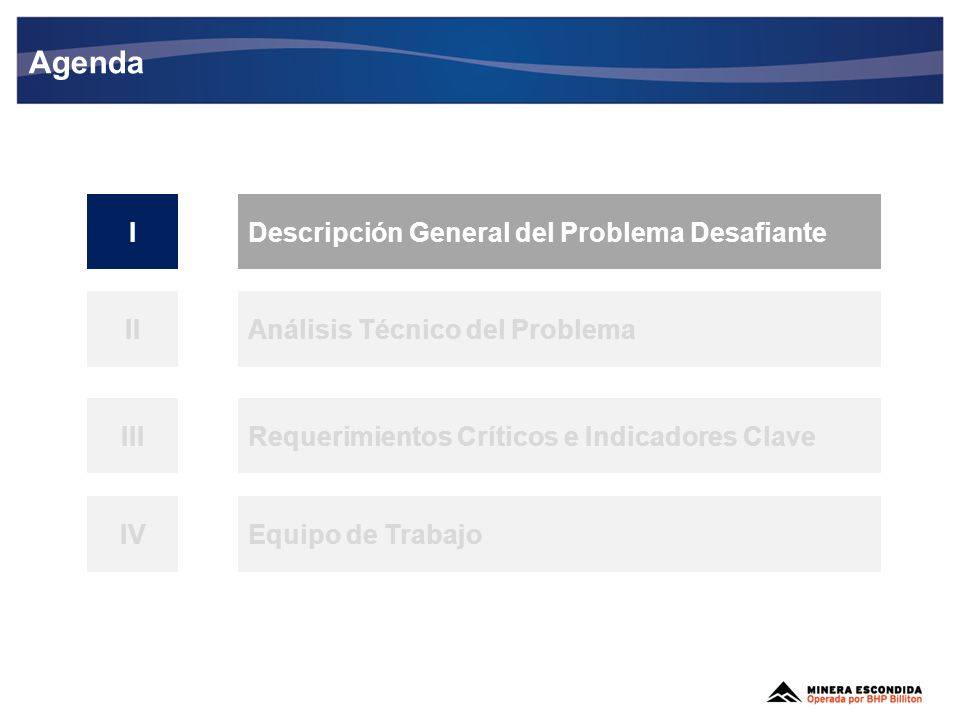 I- Descripción General del Problema Desafiante Cables fallan por desgaste, mala manipulación y por la misma operación (vibración de la tronadura, por ejemplo).