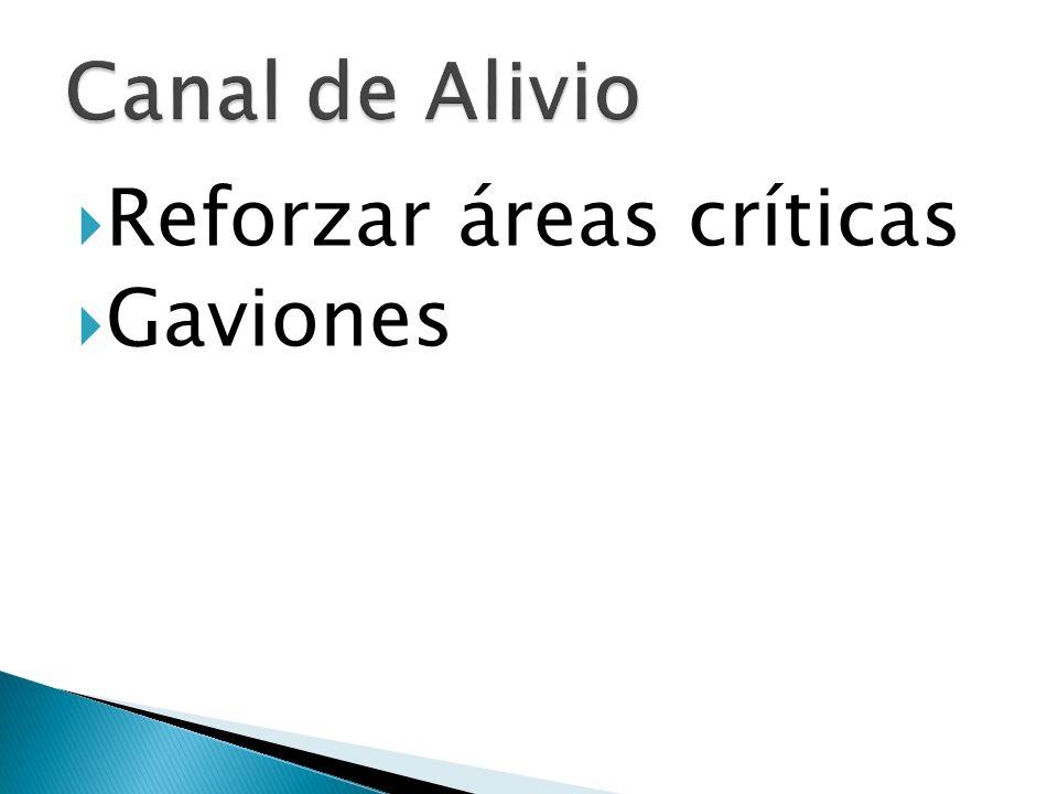 Reforzar áreas críticas Gaviones