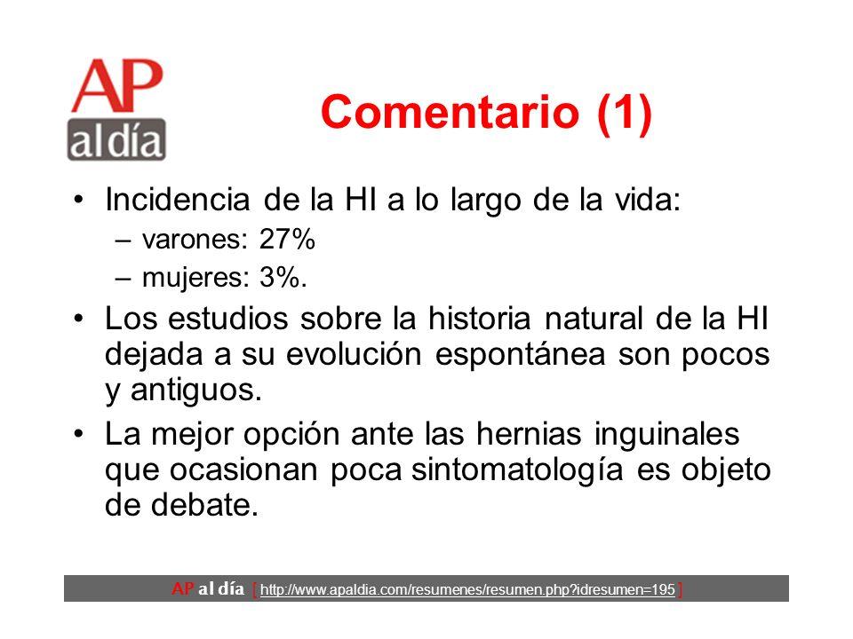 AP al día [ http://www.apaldia.com/resumenes/resumen.php?idresumen=195 ] Conclusiones Los autores concluyen que el seguimiento clínico es una opción r