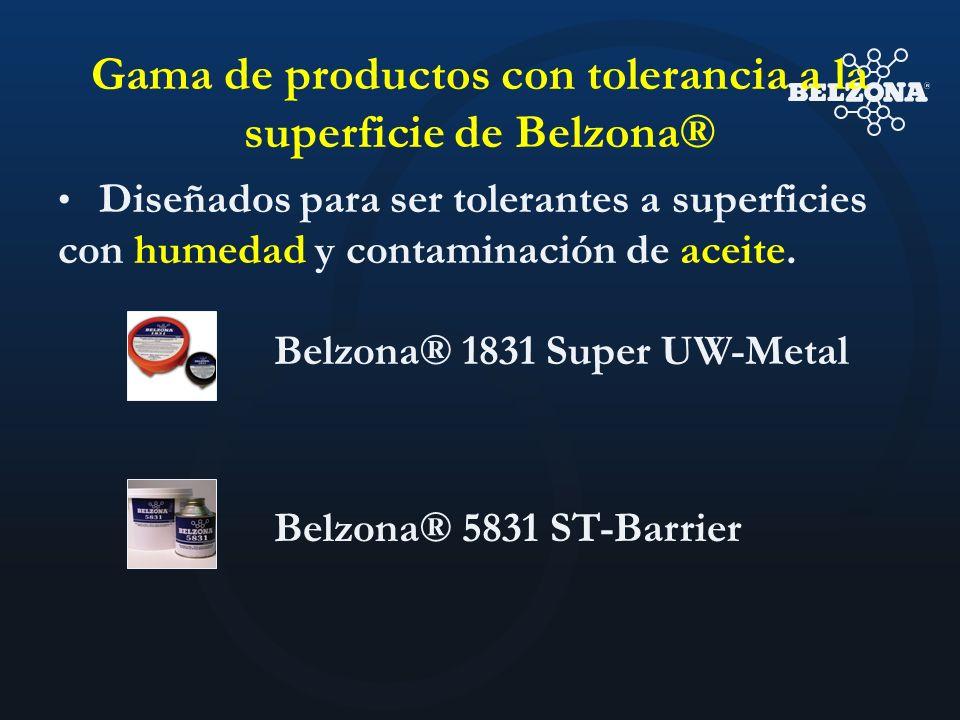Gama de productos con tolerancia a la superficie de Belzona® Diseñados para ser tolerantes a superficies con humedad y contaminación de aceite. Belzon