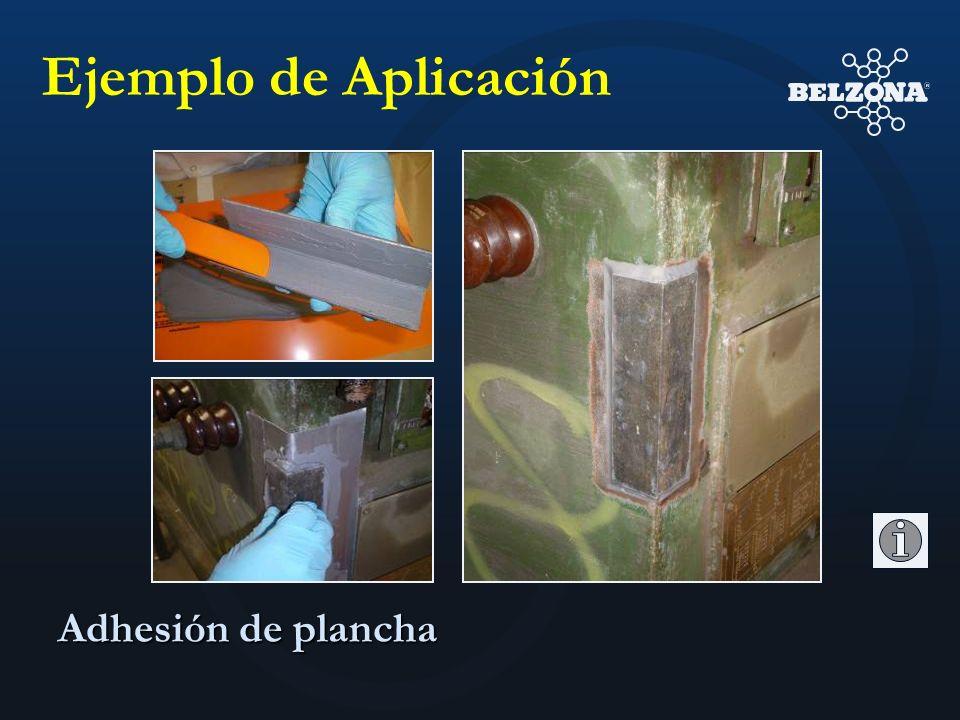 Adhesión de plancha Ejemplo de Aplicación