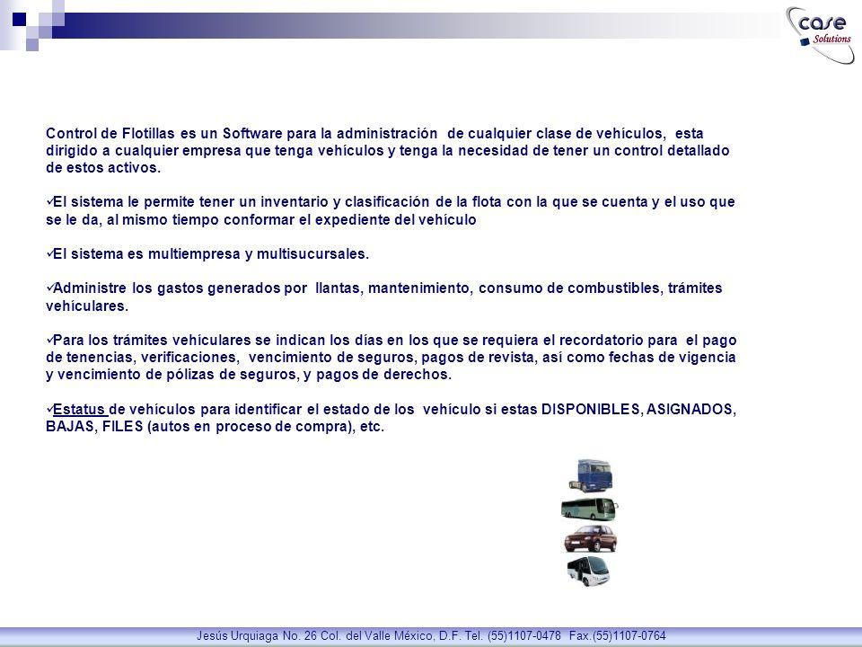 COMBUSTIBLE Jesús Urquiaga No. 26 Col. del Valle México, D.F. Tel. (55)1107-0478 Fax.(55)1107-0764