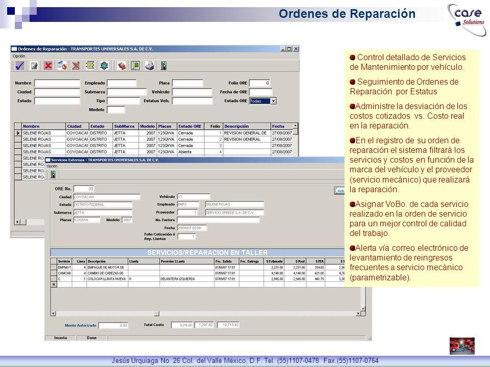 Dirección Jesús Urquiaga No. 26 Col. del Valle México, D.F. Tel. (55)1107-0478 Fax.(55)1107-0764