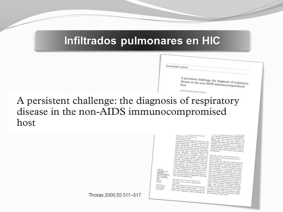 Infiltrados pulmonares en HIC Thorax 2000;55:511–517