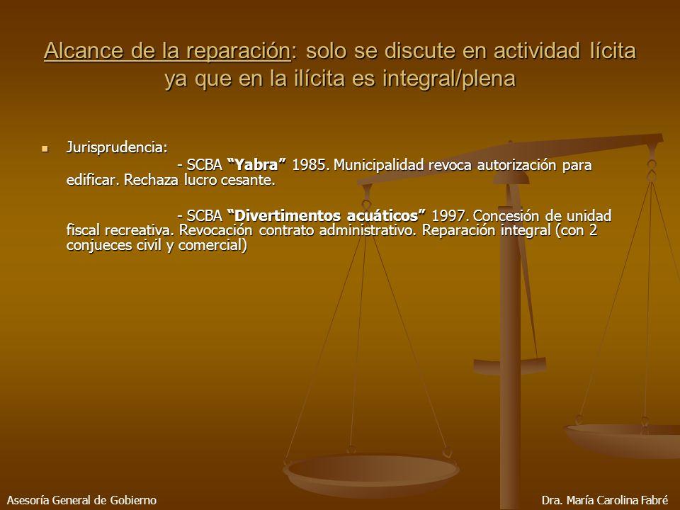 Jurisprudencia: Jurisprudencia: - SCBA Yabra 1985.
