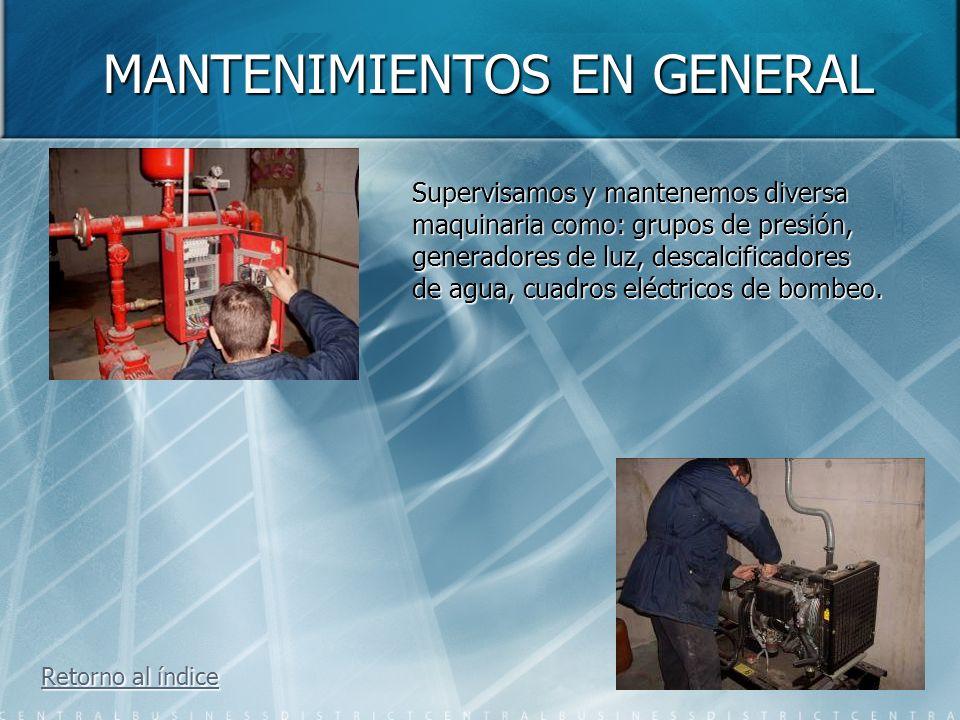 EXTRACCIONES DE AGUA Retorno al índice Retorno al índice Disponemos de todo tipo de maquinaria para la extracción de agua de los garajes También extra