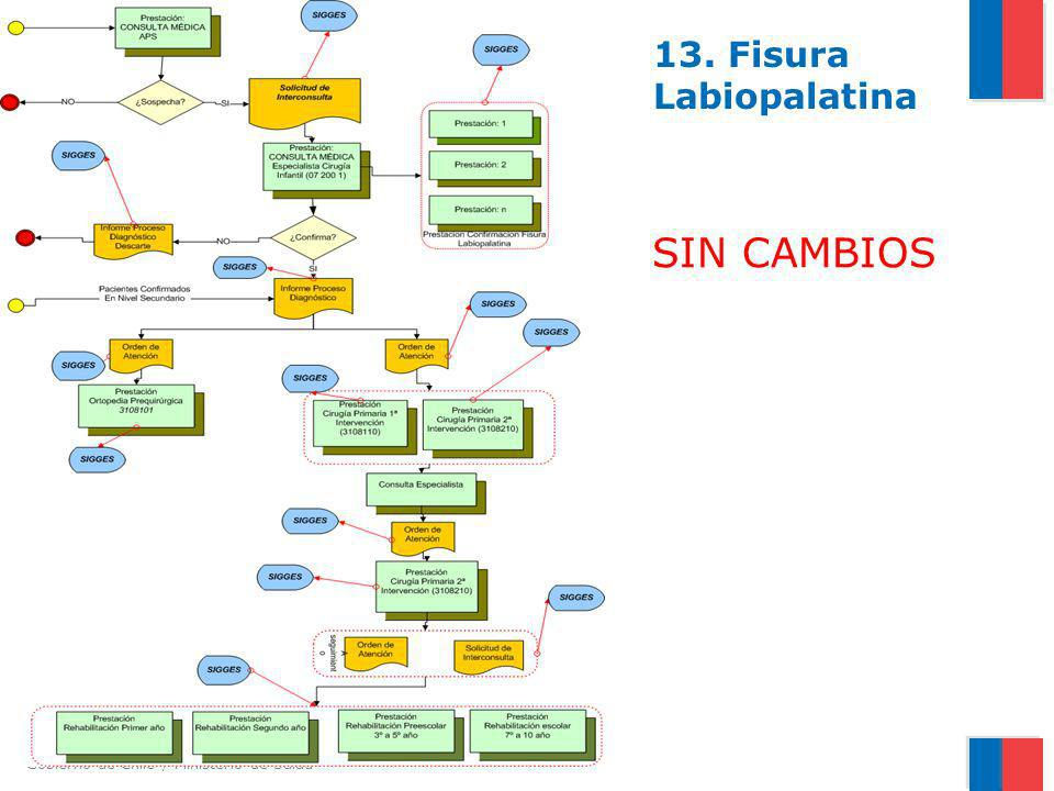 Gobierno de Chile / Ministerio de Salud 13. Fisura Labiopalatina SIN CAMBIOS