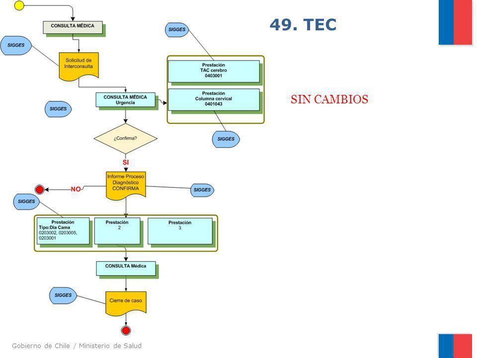Gobierno de Chile / Ministerio de Salud 49. TEC SIN CAMBIOS
