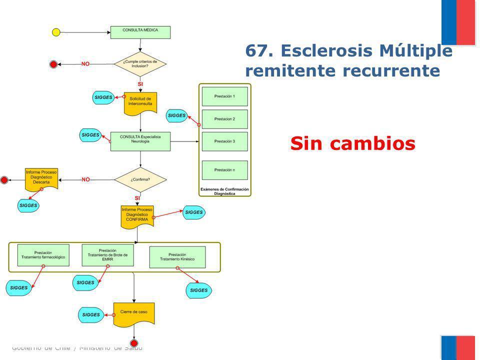 Gobierno de Chile / Ministerio de Salud 67. Esclerosis Múltiple remitente recurrente Sin cambios