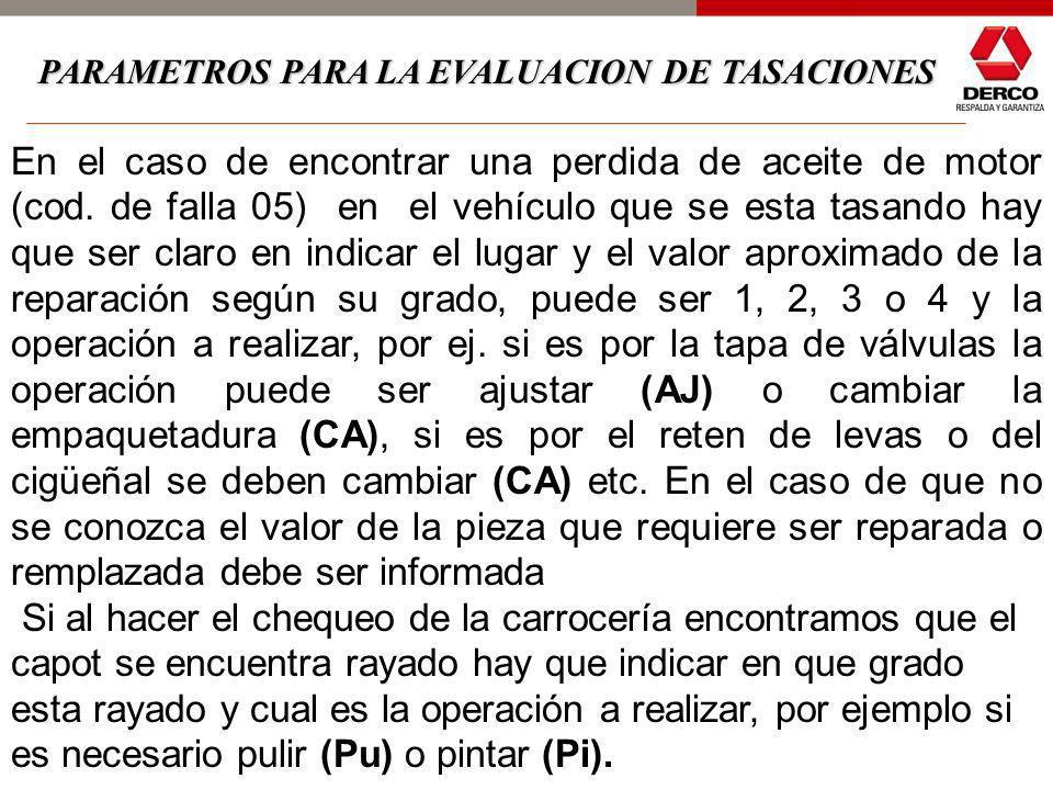Es importante eliminar los términos REVISAR Y CHEQUEAR en los formularios de TASACIONES debido a que estos términos no dan una información precisa y c