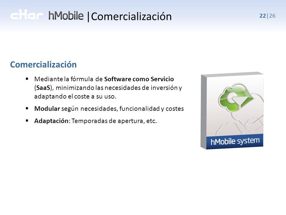 22|26 Mediante la fórmula de Software como Servicio (SaaS), minimizando las necesidades de inversión y adaptando el coste a su uso.