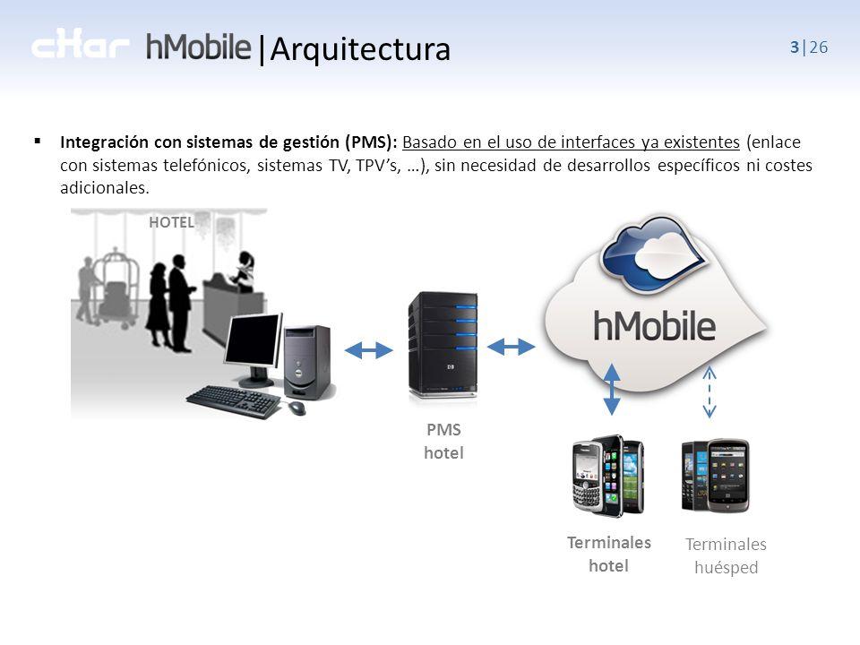 3|26 Integración con sistemas de gestión (PMS): Basado en el uso de interfaces ya existentes (enlace con sistemas telefónicos, sistemas TV, TPVs, …), sin necesidad de desarrollos específicos ni costes adicionales.