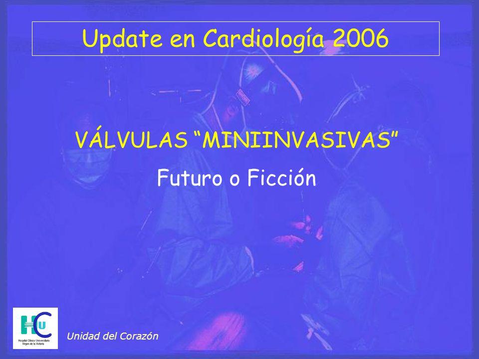 Update en Cardiología 2006 Unidad del Corazón VÁLVULAS MINIINVASIVAS Futuro o Ficción