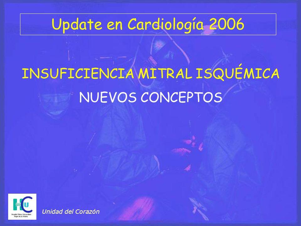 INSUFICIENCIA MITRAL ISQUÉMICA NUEVOS CONCEPTOS Unidad del Corazón Update en Cardiología 2006