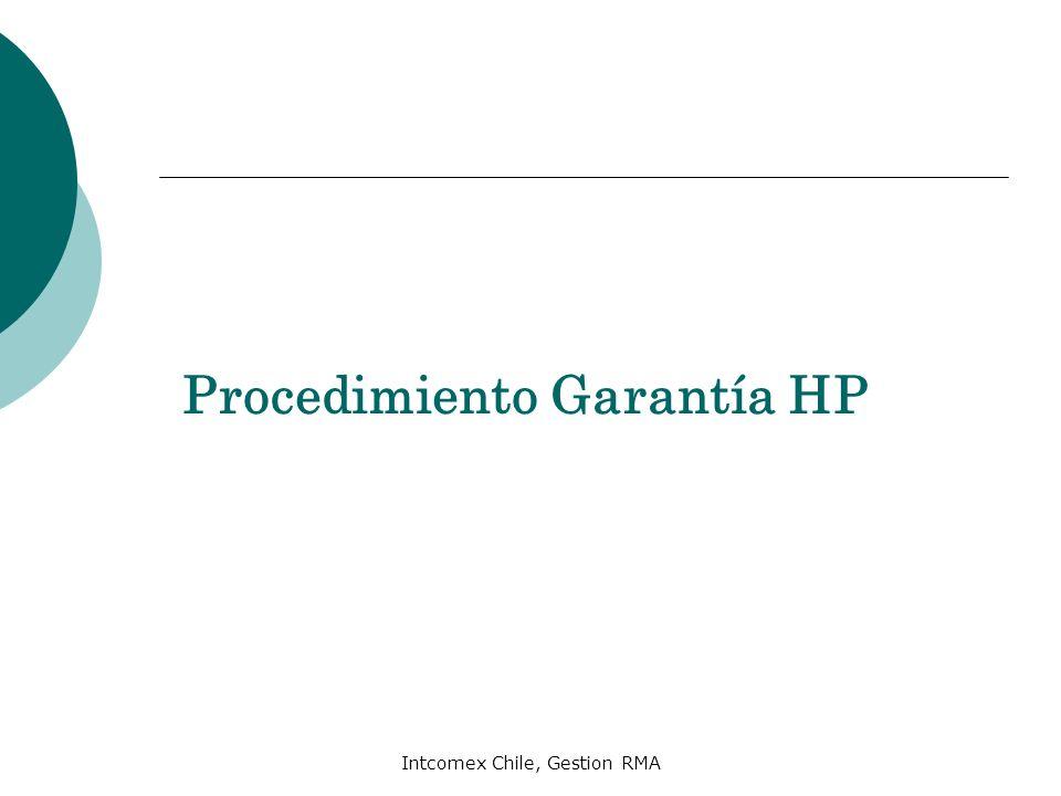 Intcomex Chile, Gestion RMA Procedimiento Garantía HP