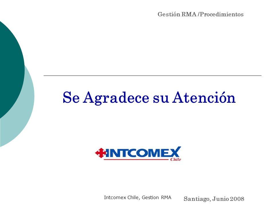 Gestión RMA /Procedimientos Se Agradece su Atención Santiago, Junio 2008