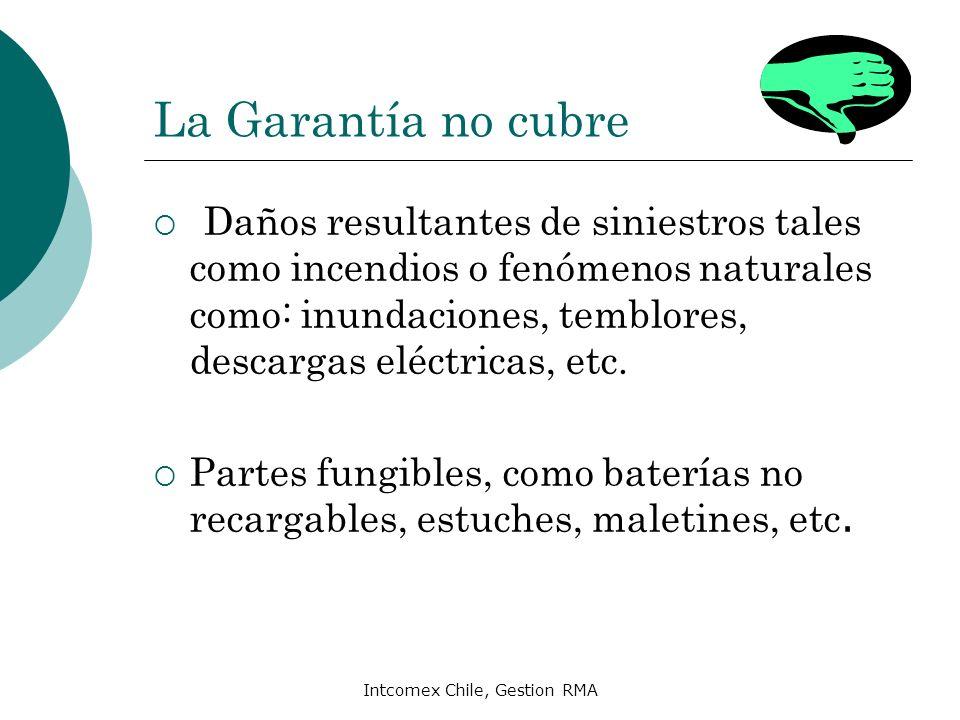Intcomex Chile, Gestion RMA Pérdida de Garantía Uso indebido del producto y/o no operado conforme al manual de instrucciones.