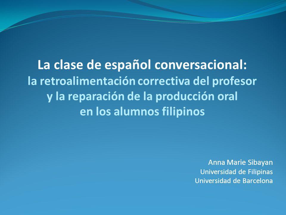 Anna Marie Sibayan Universidad de Filipinas Universidad de Barcelona