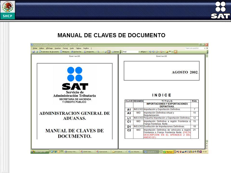 MANUAL DE CLAVES DE DOCUMENTO