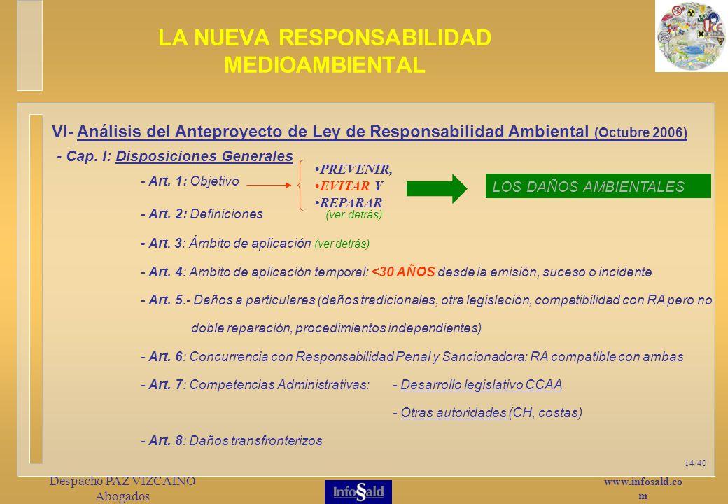 www.infosald.co m Despacho PAZ VIZCAINO Abogados 14/40 - Cap.