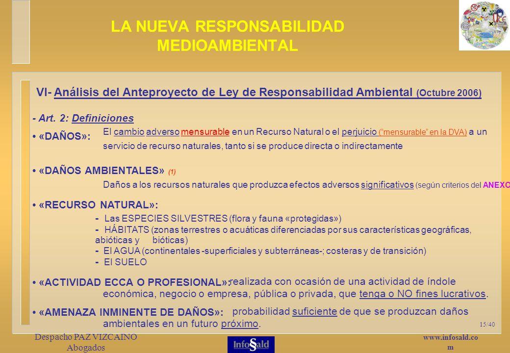 www.infosald.co m Despacho PAZ VIZCAINO Abogados 15/40 - Art.