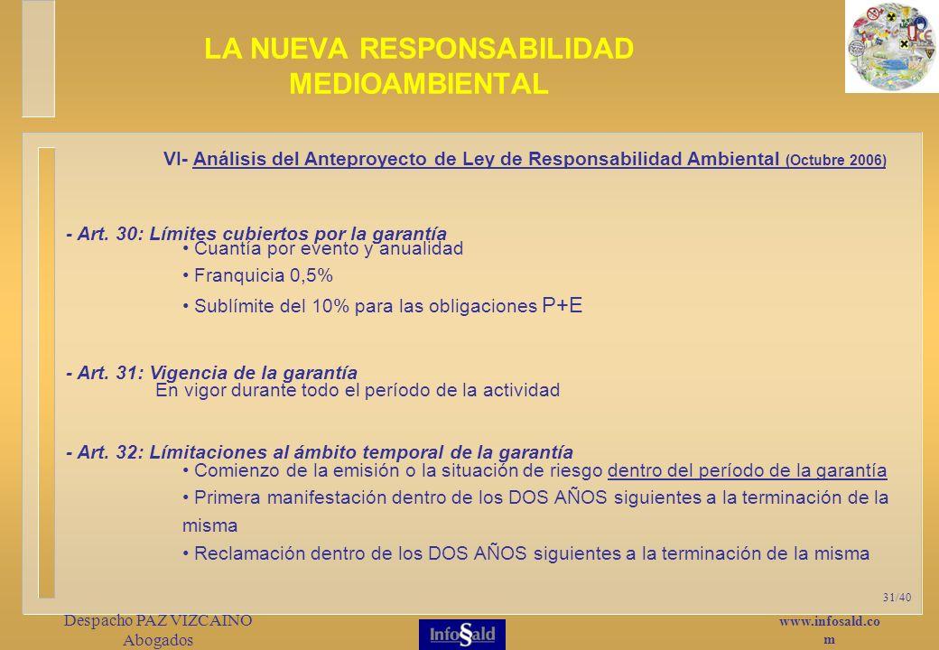 www.infosald.co m Despacho PAZ VIZCAINO Abogados 31/40 - Art.