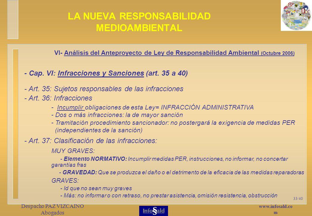 www.infosald.co m Despacho PAZ VIZCAINO Abogados 33/40 - Cap.