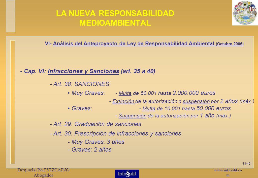 www.infosald.co m Despacho PAZ VIZCAINO Abogados 34/40 - Cap.
